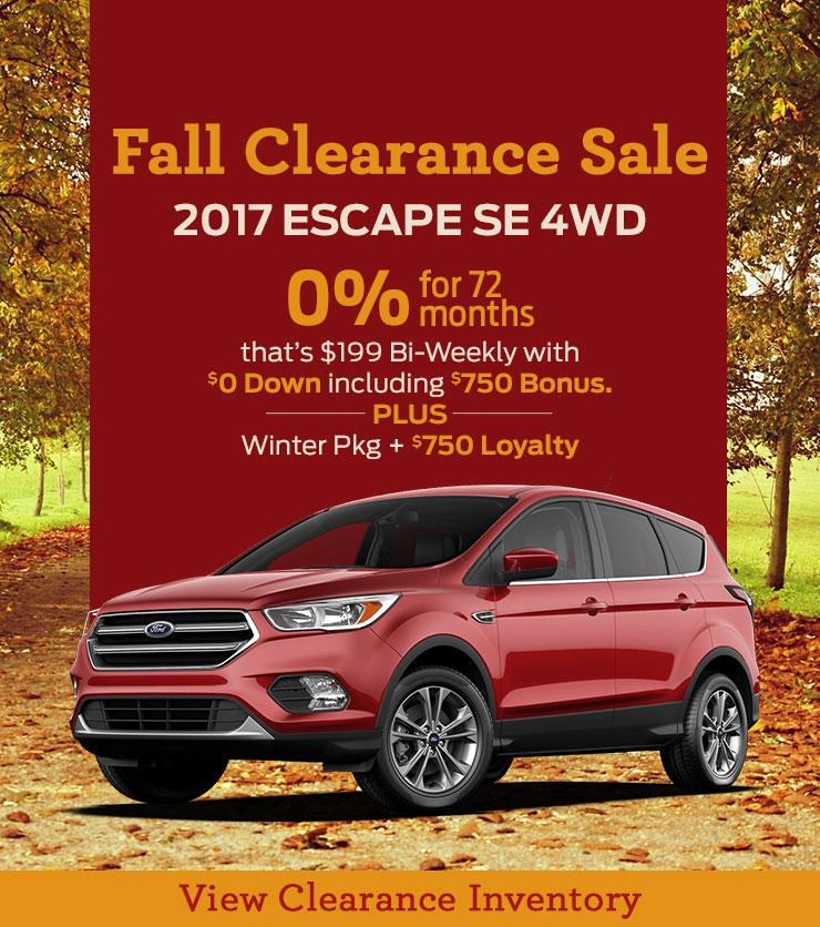 2017 Escape Clearance