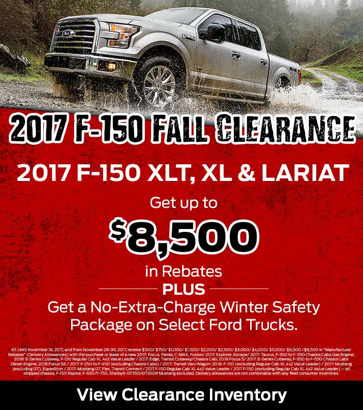 2017 F-150 Clearance Terrace Totem Ford
