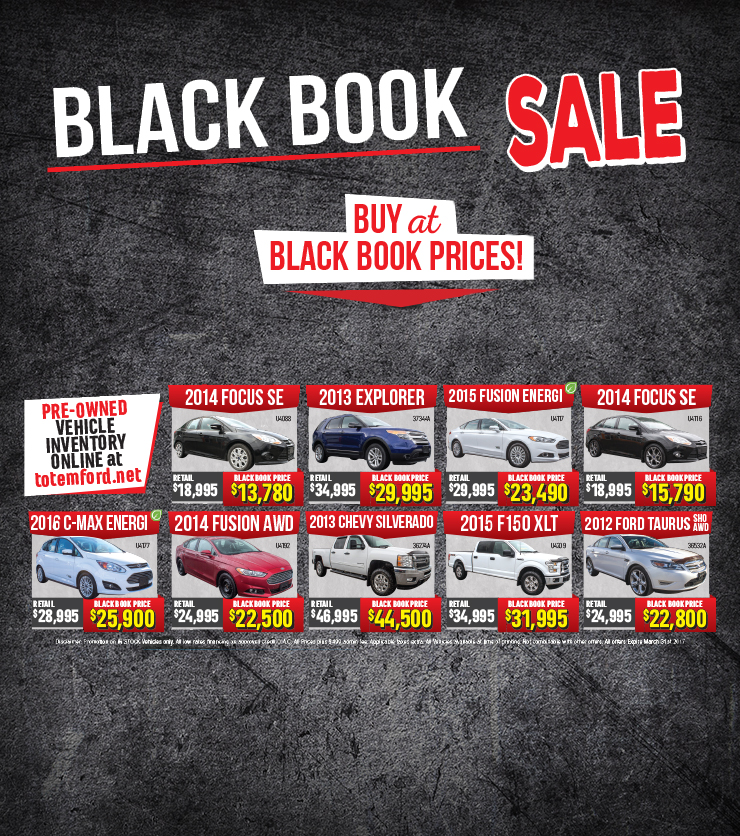 Black Book Sale Flyer