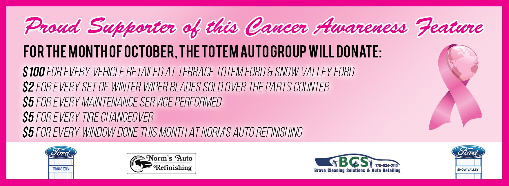 Terrace Totem Ford Snow Valley Ford Breast Cancer Awareness Month