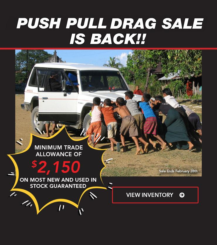 Push Pull Drag Sale is Back til Feb 28th!
