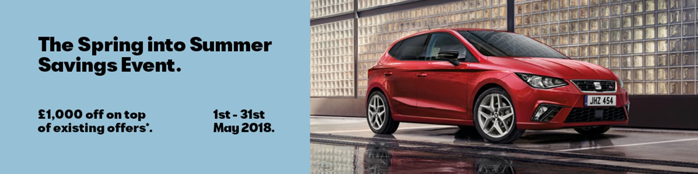 Spring into Summer with £1000 off any new SEAT