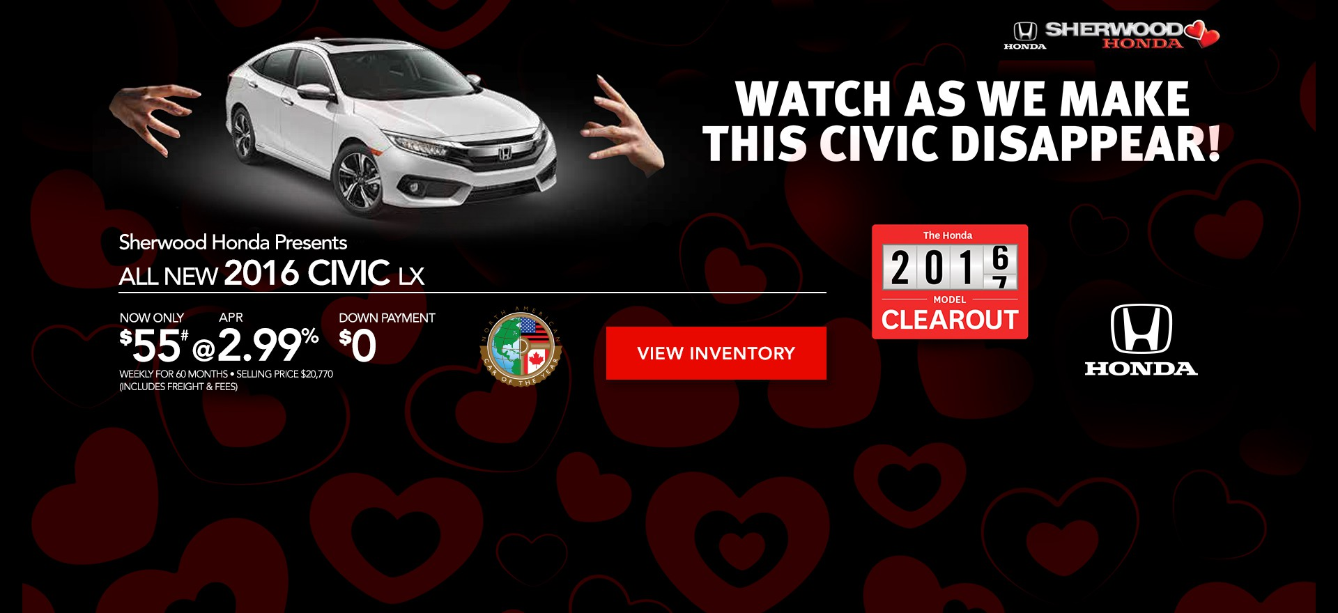 2016 Civic LX on Finance