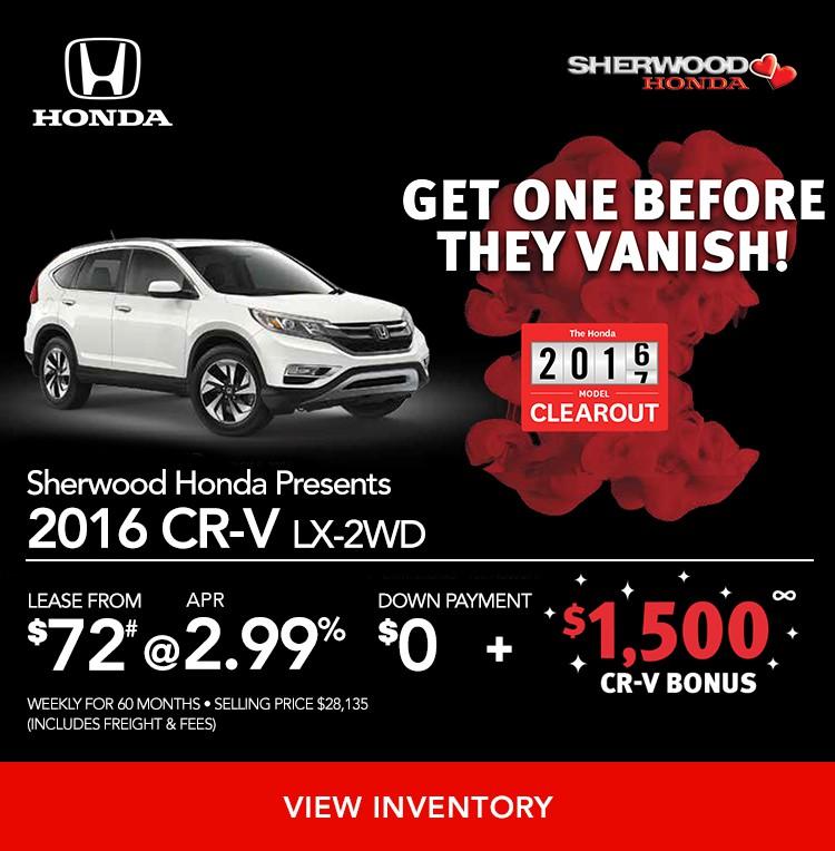 2016 CR-V LX 2WD on Finance