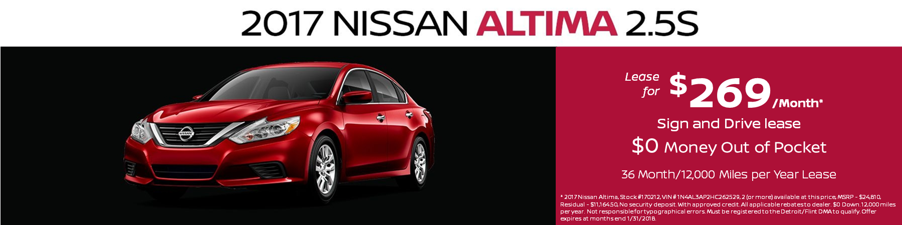 Nissan Altima Lease Special