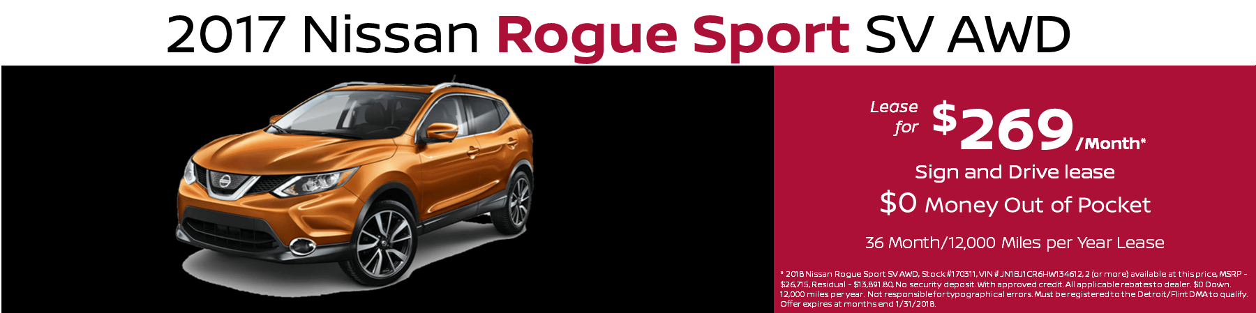 Nissan Rogue Sport Lease Special