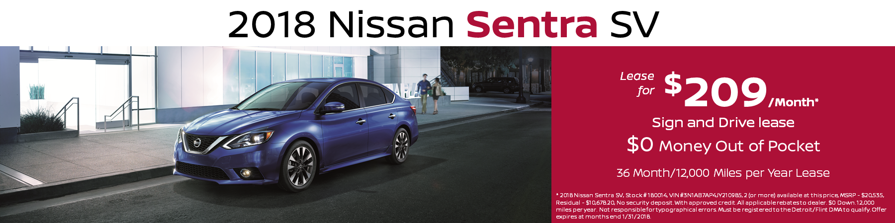 Nissan Sentra Lease Special