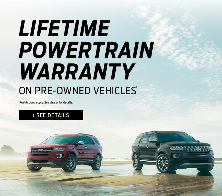 Jubilee Ford's Lifetime Powertrain Warranty