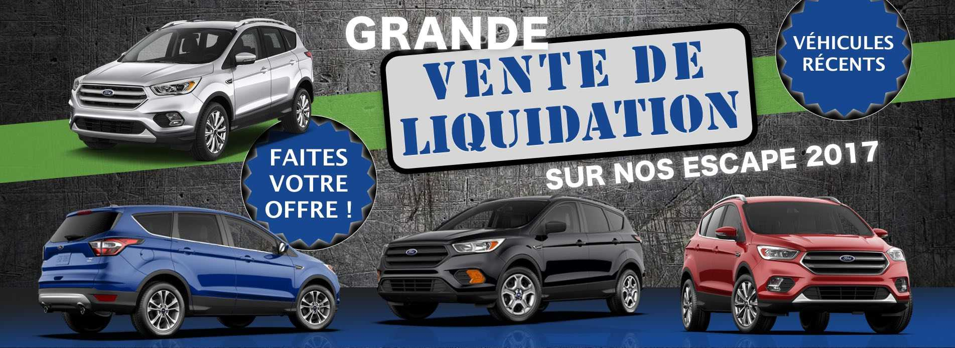 Grande liquidation sur nos Escape 2017