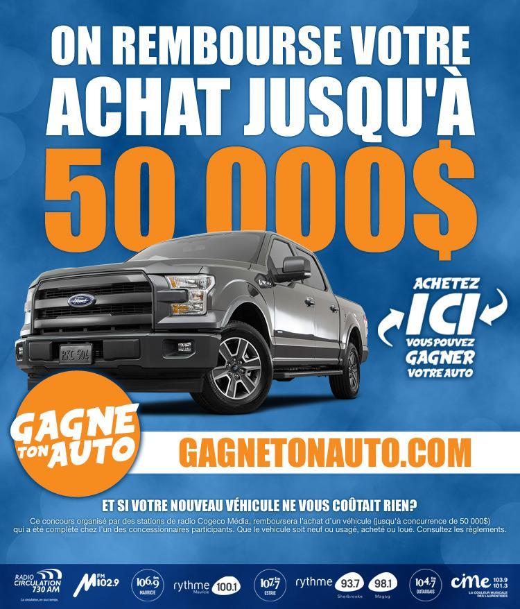 Gagne ton auto Desjardins Ford