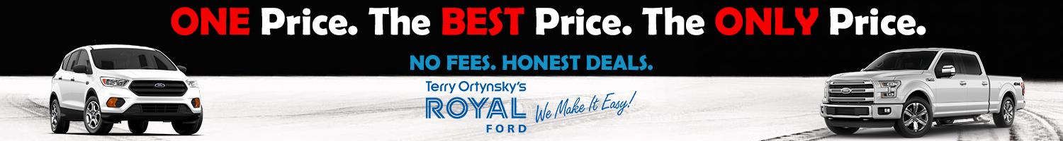 One Price. The Best Price. The Only Price. royal Ford
