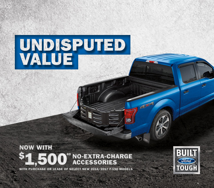 Get $1,500 in No-Charge Accessories with the F-150