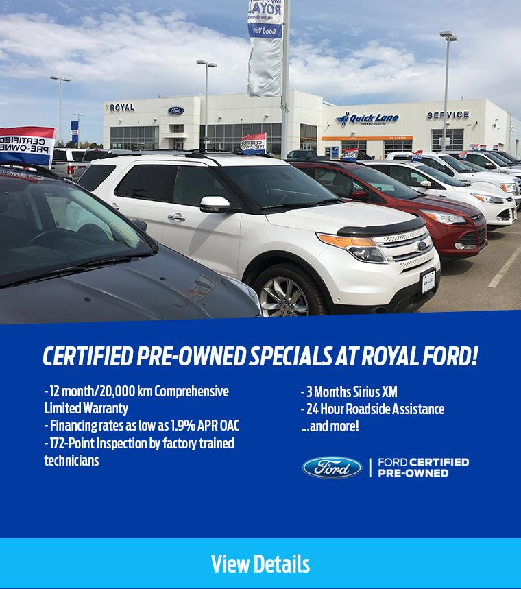 Certified Pre Owned specials Royal Ford