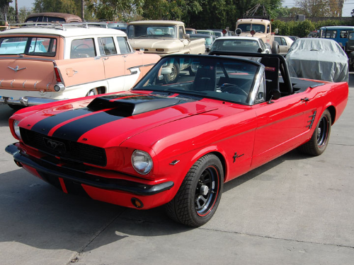 Charlie Sheen Ford Mustang