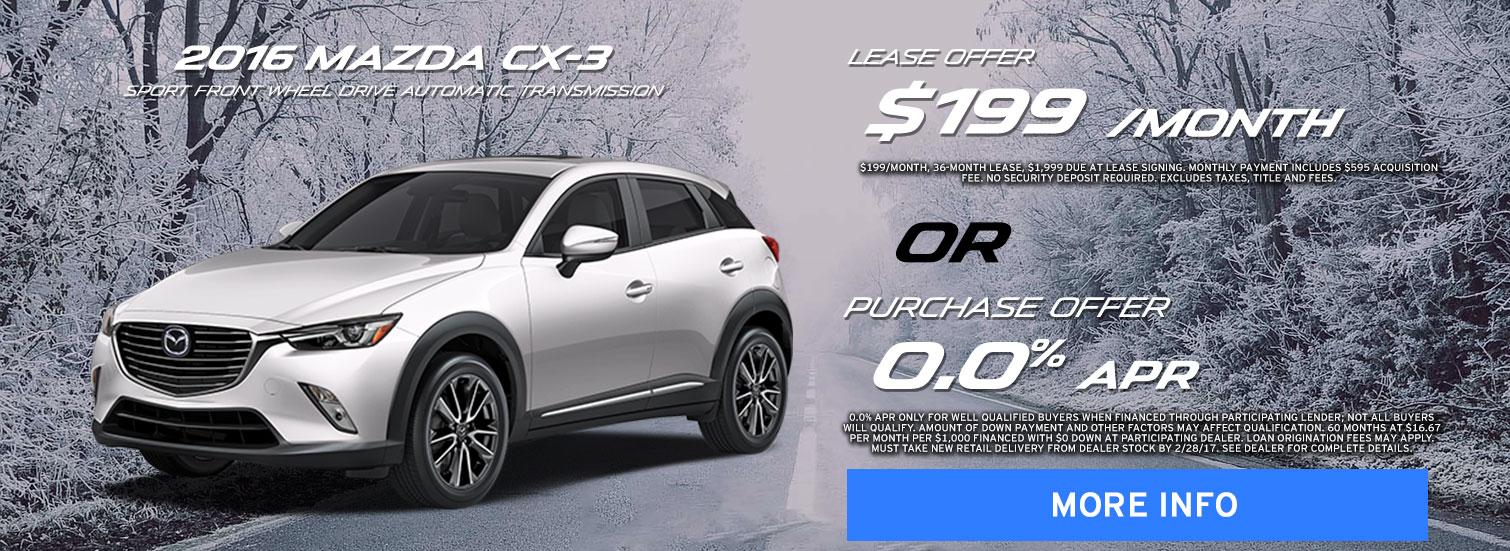 Mazda CX-3 offer