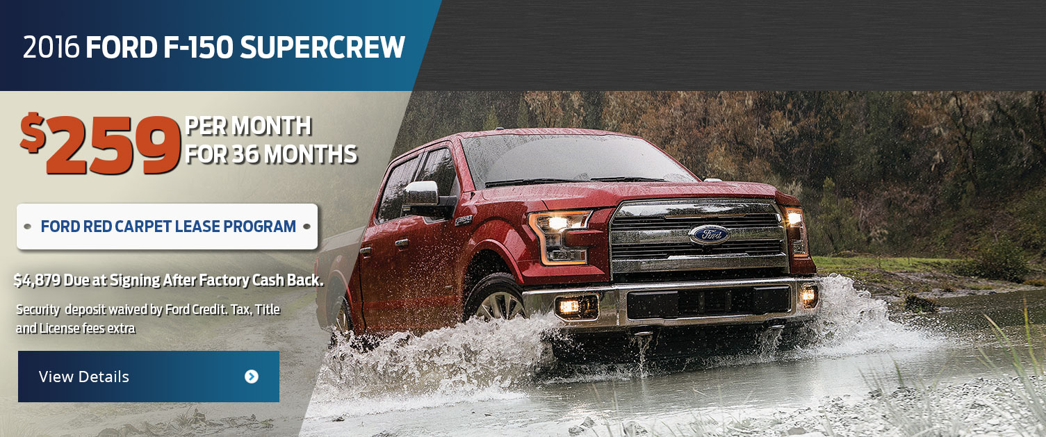 2016 Ford F-150 SuperCrew Lease Offer