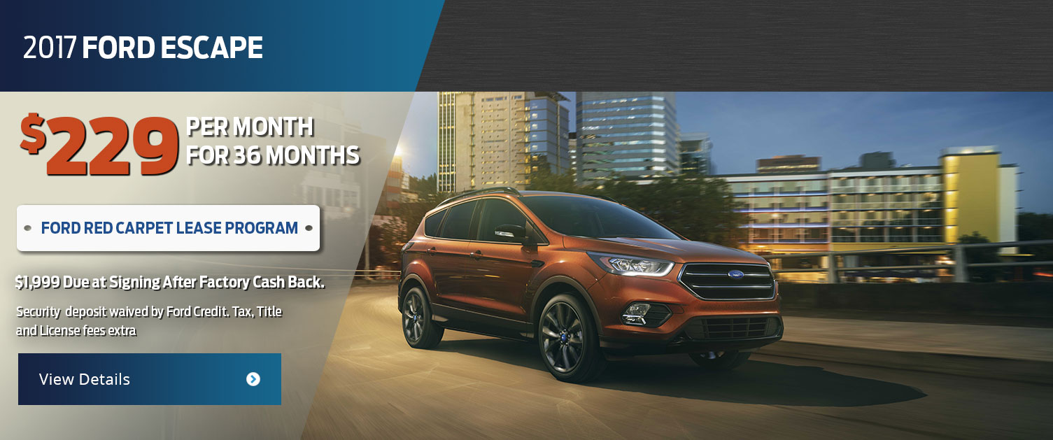 2017 Ford Escape Lease Offer