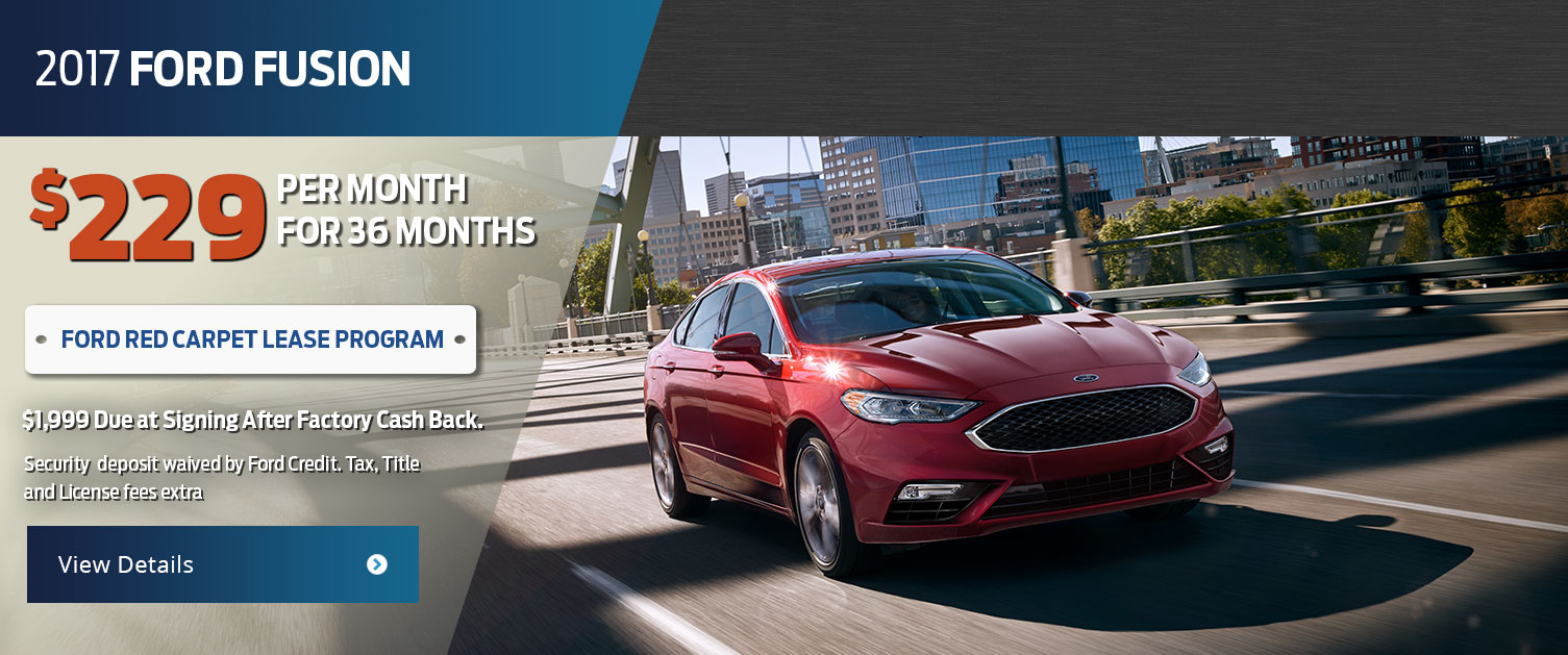 2017 Ford Fusion Lease Offer