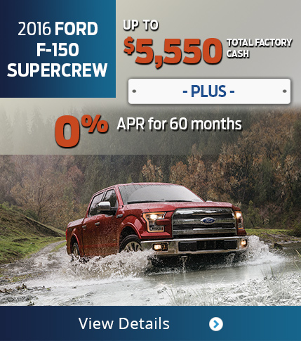 2016 Ford F-150 SuperCrew Purchase Offer