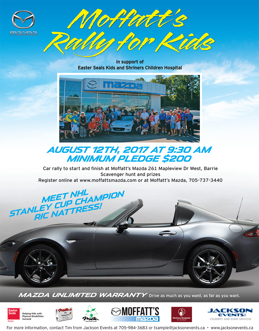 Moffatt's Rally for Kids Poster