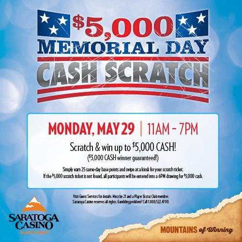 $5,000 Memorial Day Cash Scratch