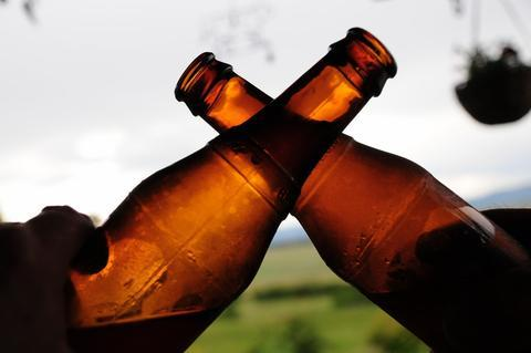 Beer Bottle Toasting