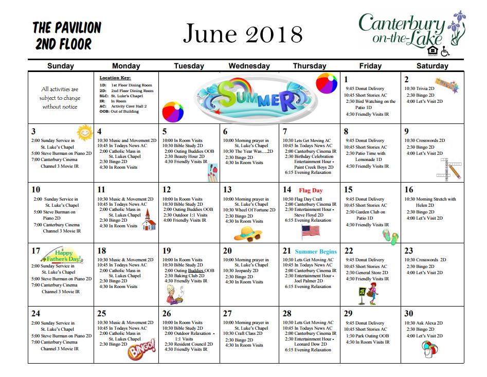 Pavilion Calendar