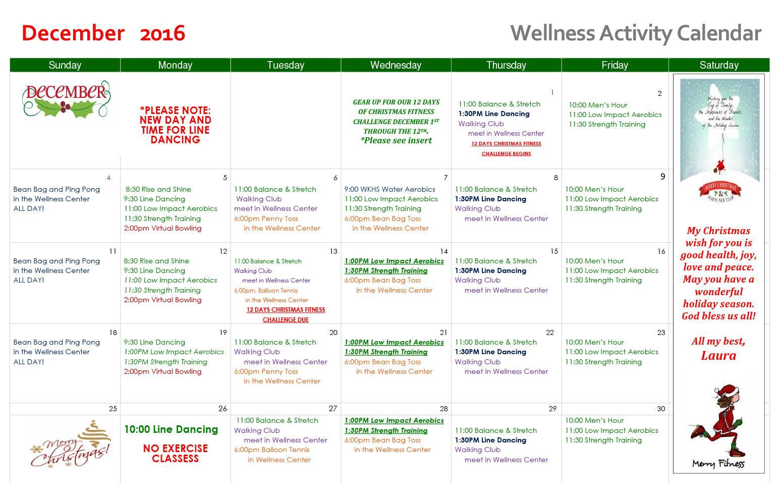 Wellness Calendar Ideas : Waterford senior living activities near detroit