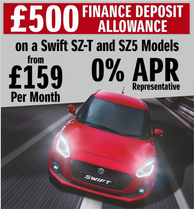 £500 Deposit Allowance on Swift SZ-T and SZ5 Models