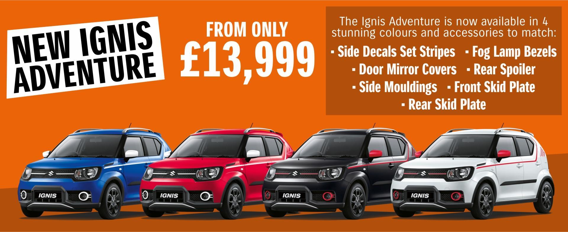 New Suzuki Ignis Adventure From £13,999