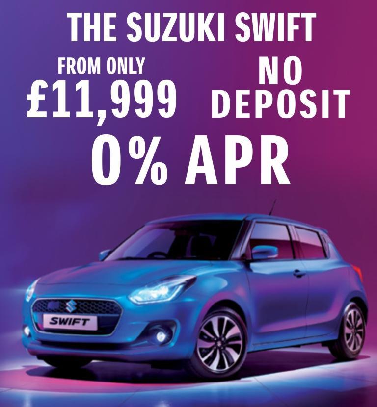 Suzuki Swift From £11,999 0% APR