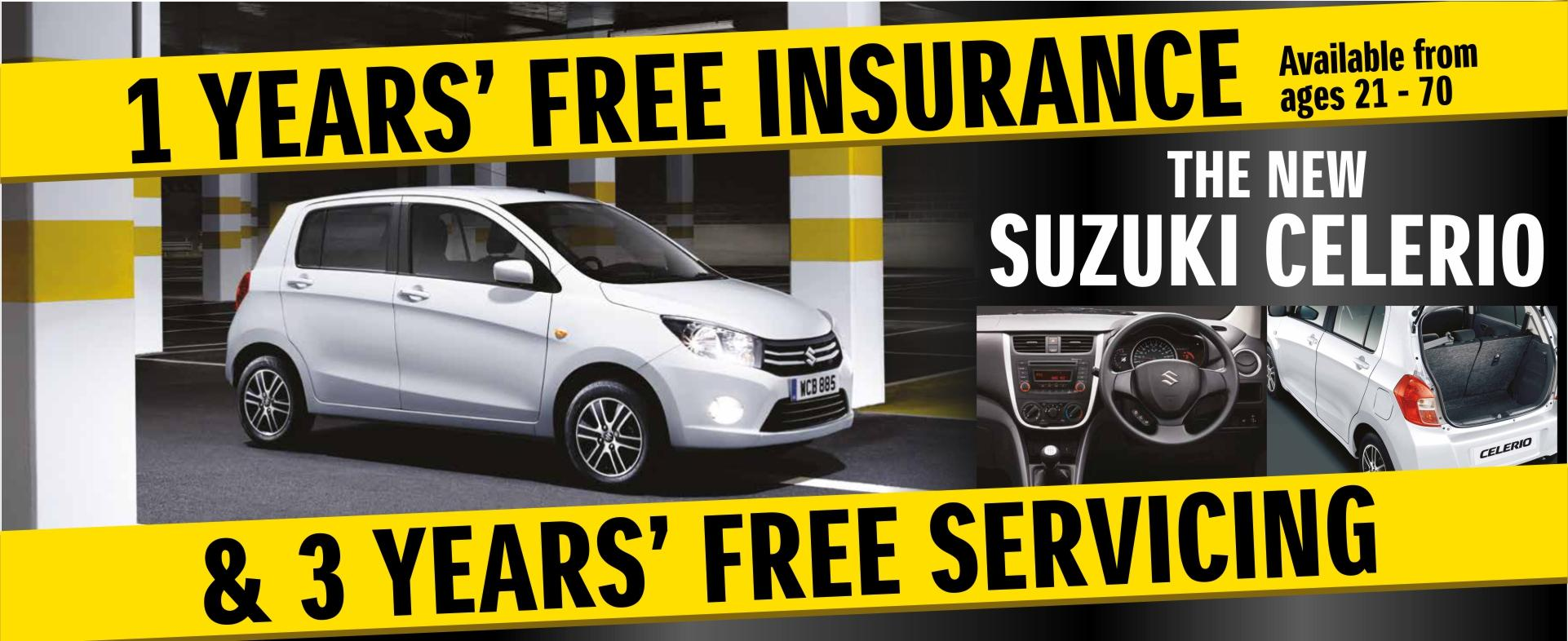 Celerio Free Insurance & 3 Years Free Servicing