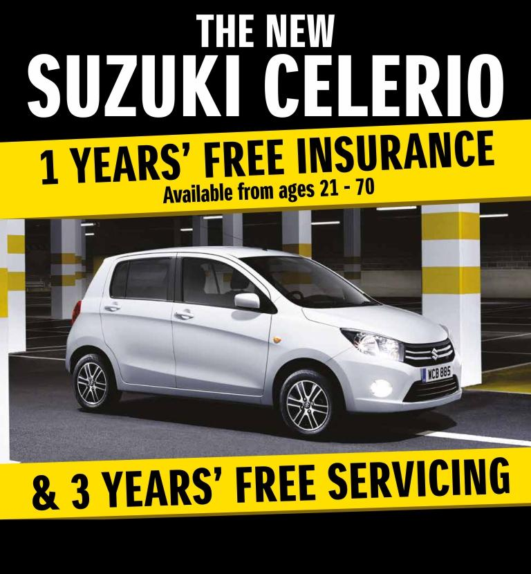 Celerio Free Insurance and Servicing