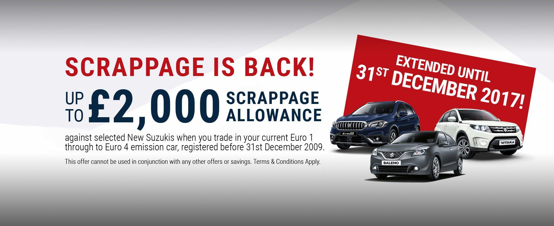 Scrappage Extended to 31st December 2017