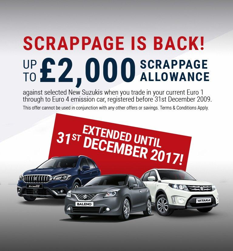 Scrappage is back until 31st December 2017