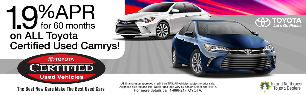 1.9% APR - Toyota Certified Camrys