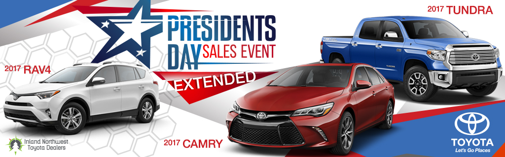 Toyota Presidents Day Sales Event