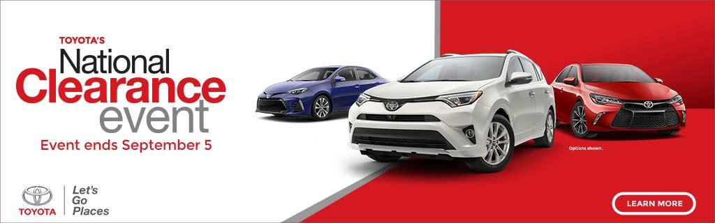 Toyota National Clearance Event