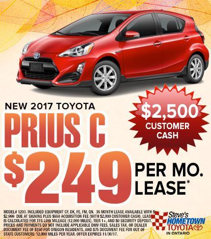 2017 Toyota Prius C Special