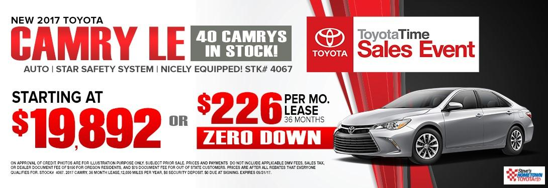2017 Toyota Camry - Toyota Time Sales Event