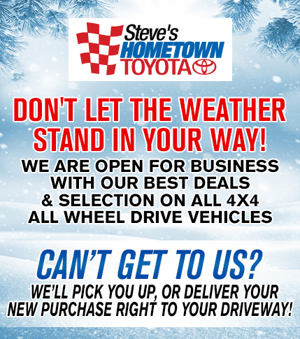 Open Despite Weather With Deals on 4X4/All Wheel Drive Vehicles