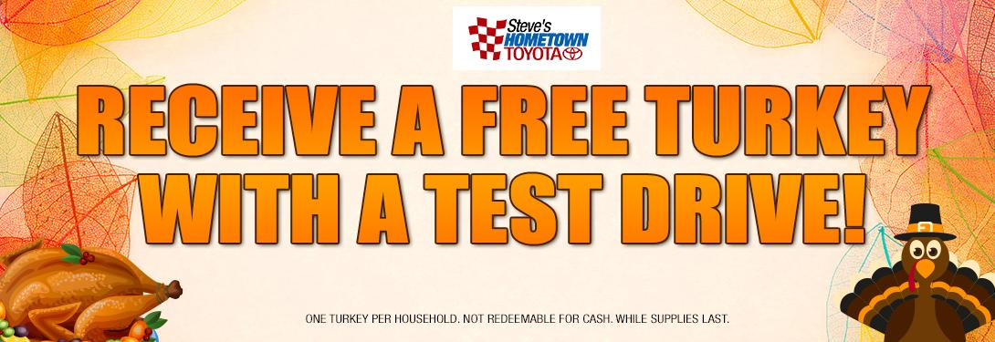 Hometown Toyota Free Turkey with Test Drive