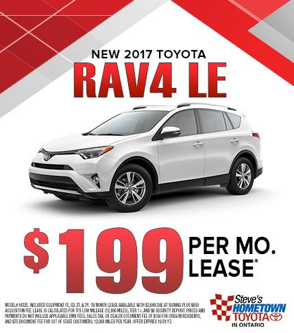 2017 Toyota RAV4 LE lease special