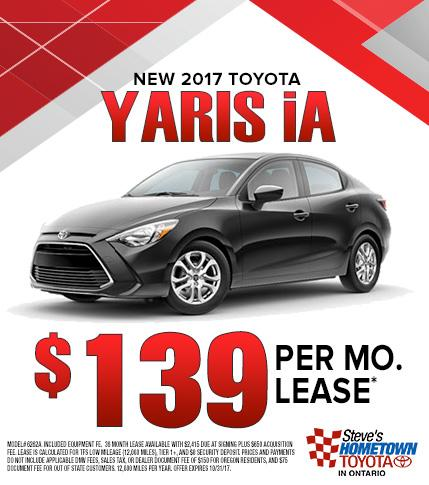 2017 Toyota Yaris lease special