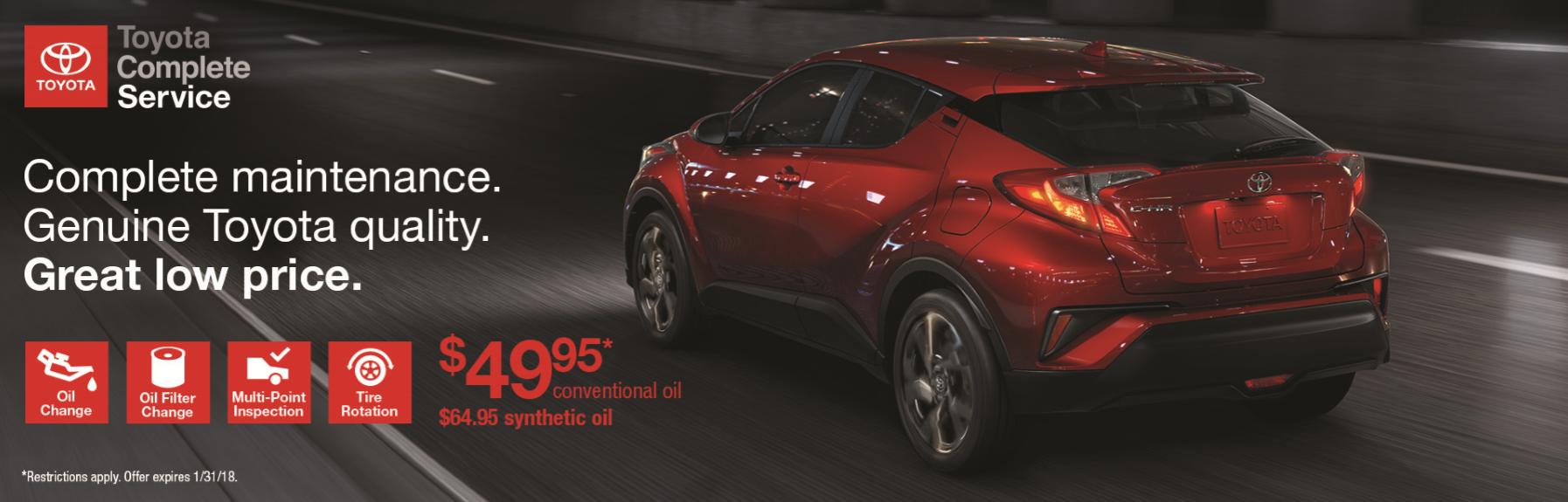 Toyota Maintenance Specials