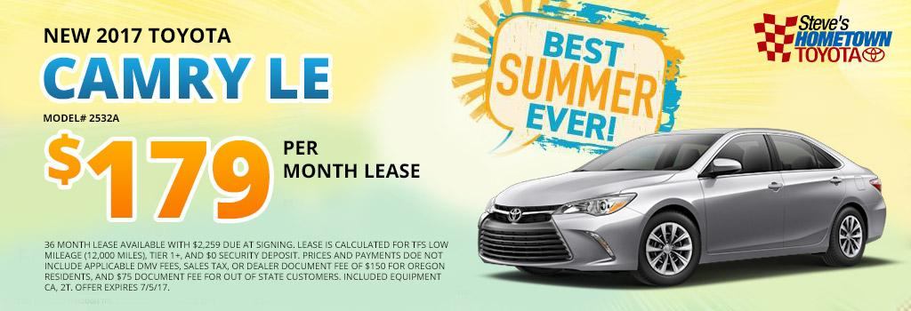 2017 Toyota Camry Lease Offer