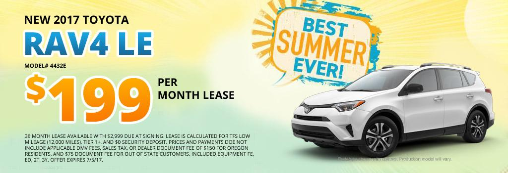 2017 Toyota RAV4 LE Lease Offer