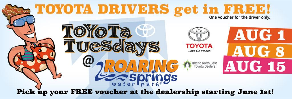 Toyota Tuesdays at Roaring Springs Water Park