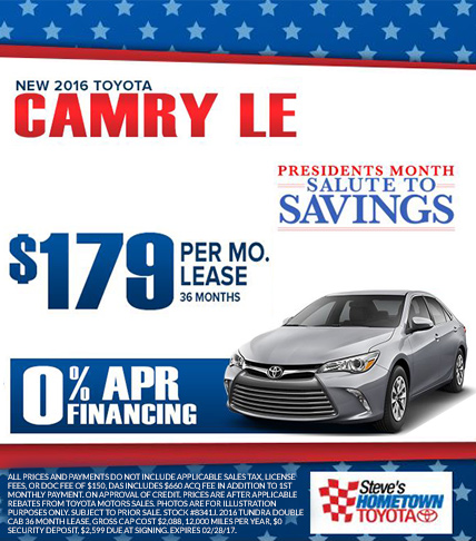 2016 Toyota Camry  - President's Month Salute to Savings
