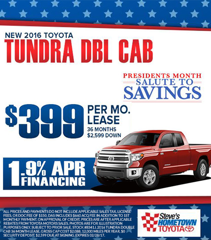 2016 Toyota Tundra - President's Month Salute to Service